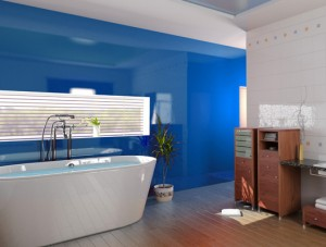 Bespoke-Blue-Painted-Glass-Splashback