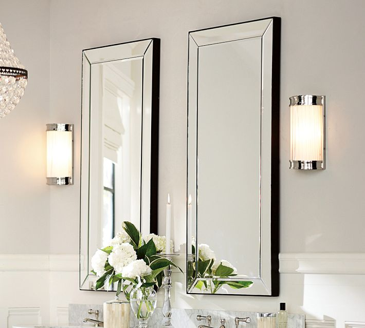Beveled mirror glass for Beveled mirror
