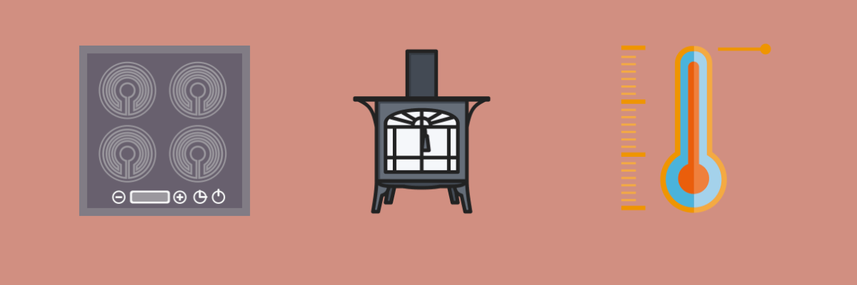 Stove glass banner